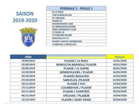 Calendrier Federale 2 2020 2019.Saison 2019 2020 Federale 2 La Poule Et Le Calendrier